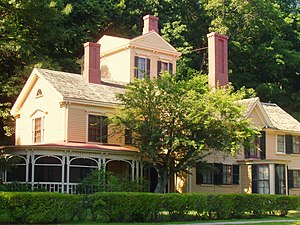 The Wayside - The Wayside, home in turn to authors Louisa May Alcott, Nathaniel Hawthorne, and Margaret Sidney