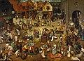 The battle between Carnival and Lent, by Pieter Bruegel (I).jpg
