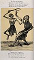 The dance of death at Basel; death and the cobbler. Lithogra Wellcome V0041952.jpg