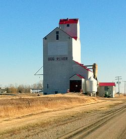 The grain elevator in Rouleau