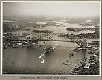 The mail ship Maloja passing under Sydney Harbour Bridge, 19 March 1932 (6174057672).jpg