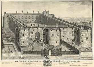 Chirk Castle - Image: The north east prospect of Chirk Castle in Denbighshire on of the seats of John Myddelton Esqr
