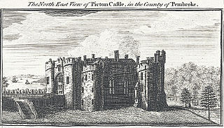 The north east view of Picton Castle, in the county of Pembroke