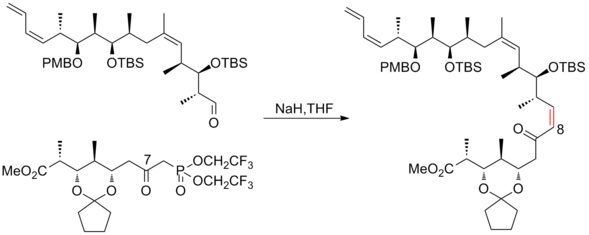 The third-generation Paterson syntheses of (+)-discodermolide endgame.png