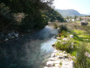Thermopylae - The hot springs from which Thermopylae takes its name.