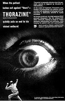 Pubblicità di antipsicotico negli anni 1950