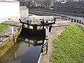 Three-rise locks from the top, Bingley - geograph.org.uk - 388314.jpg