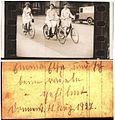Three lady cyclists, Germany, 11 August 1927 (6053741239).jpg
