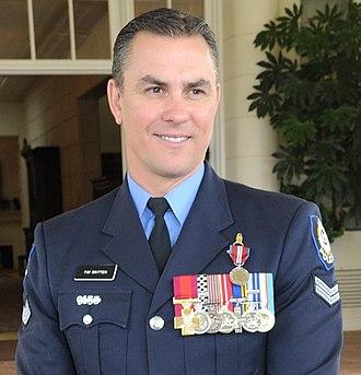 Western Australia Police - Tim Britten CV, displaying a number of Australian and Western Australia Police Force honours