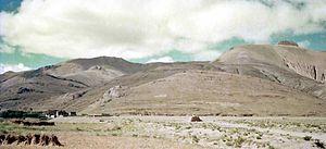 Tingri (town) - Tingri town, Tibet. 1993.