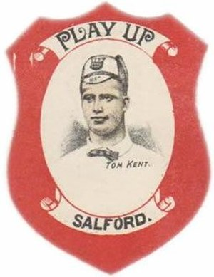 Tom Kent (rugby) - Kent pictured in a collectable badge
