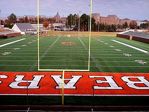 Mercer Bears - Tony and Nancy Moye Football and Lacrosse Complex (under construction, view from the Homer and Ruth Drake Field House)