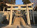 Toriis on sando of Miyajidake Shrine at dusk.jpg