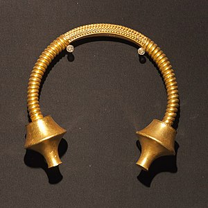 Castro culture - Gold torc from Burela