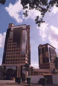 Edificio de la Cámara de Industria, Comercio, Servicios y Turismo de Santa Cruz (Cainco) una Institución empresarial líder de Bolivia