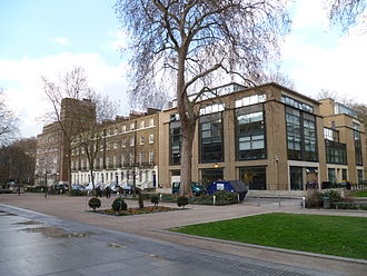 Birkbeck, University of London - Torrington Square and Birkbeck's Clore Management Centre (right)