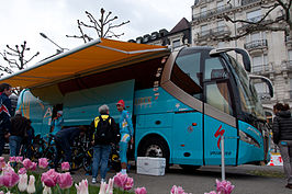 Tour de Romandie 2013 - Stage 5 - Team Astana's bus.jpg