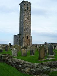 Tower of St. Rule's Church, St. Andrews Scotland.jpg