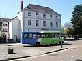 Town and Country bus leaves Twyn Square, Usk - geograph.org.uk - 2429162.jpg