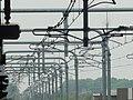 Train electricity system at Nagareyama-Ootakanomori Station; 2014.jpg
