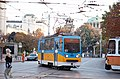 Tram in Sofia near Palace of Justice 2012 PD 019.jpg