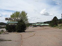 Triangle Grocery and Old Bella Vista sign, Cedar Crest NM.jpg