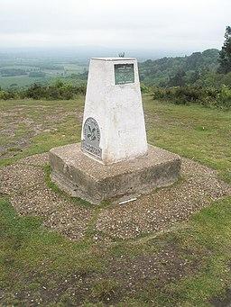 Triangulation pillar on top of Gibbet Hill - geograph.org.uk - 818793