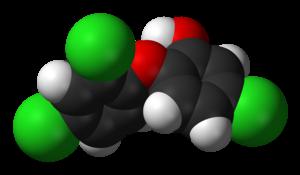 Triclosan - Image: Triclosan 3D vd W