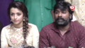 Trisha Krishnan and Vijay Sethupathi at the launch of the Movie '96'.png