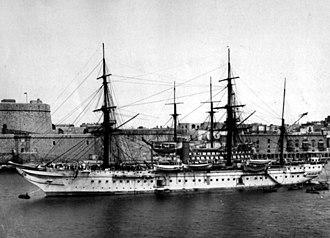 HMS Tamar (1863) - Image: Troopshiptamar