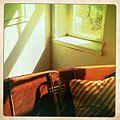 Trumpet & light - from the Skyphone retreat @ Hotell Hildur, Everöd, Sweden (2010-05-17 by Mads Bødker).jpg