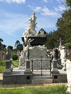 Guatemala City General Cemetery - Agripina de Sánchez tomb as seen in 2014; built in 1892 is one of the most representative and best preserved of the Cemetery.