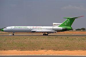 Bulgarian Air Charter - A former Bulgarian Air Charter Tupolev Tu-154
