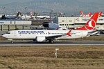 Turkish Airlines, TC-LCG, Boeing 737-8 MAX (40671589763).jpg