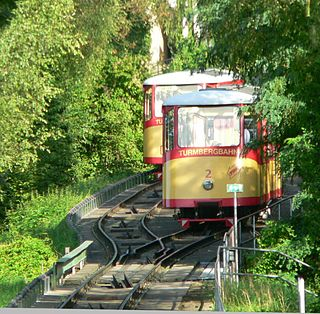 funicular railway in Karlsruhe in Germany