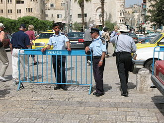 Palestinian Security Services - Palestinian police in Bethlehem, 2007