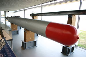 Type 95 torpedo - Type 95 torpedo display at Yamato Museum.