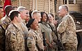 U.S. Army Gen. John Campbell, right, the vice chief of staff of the Army, talks to Soldiers and civilians at Camp Nathan Smith in Kandahar province, Afghanistan, May 31, 2013 130531-A-VM825-017.jpg