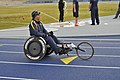 U.S. Navy Yeoman 1st Class Javier Rodriguez Santiago, a Navy-Coast Guard team member, prepares to participate in the 2013 Warrior Games in Colorado Springs, Colo., May 13, 2013 130513-N-DT940-004.jpg