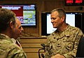 U.S. Sen. Bob Corker of Tennessee, second from left, talks with U.S. Navy Capt. Timothy Szymanski July 7, 2013, at Camp Integrity, Afghanistan 130707-N-QV903-027.jpg