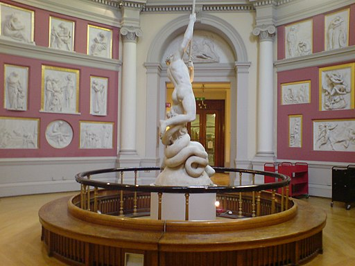UCL Flaxman Gallery and sculpture