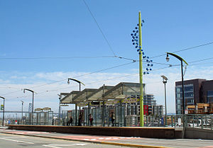 UCSF/Mission Bay station - The northbound platform in 2008