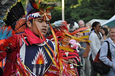 Fancy Dancer at the Seafair Indian Days Pow-Wow, Daybreak Star Cultural Center, Seattle, Washington UIATF Pow Wow 2009 - 023.jpg