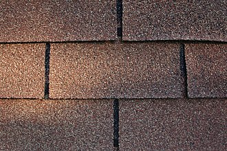 Asphalt shingle - Three-tab asphalt shingle roofing in good condition