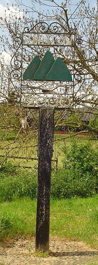Bartlow - Signpost in Bartlow