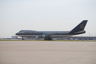 Dallas/Fort Worth International Airport - UPS Airlines Boeing 747 at DFW International Airport