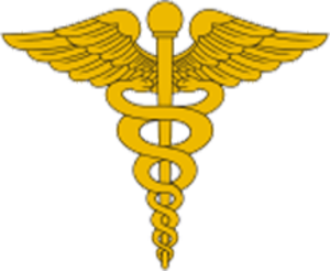 Medical Corps (United States Army) - The traditional U.S. Army version of the caduceus. The 1902 adoption of this ancient symbol of the Greek god Hermes for U.S. Army medical officer uniforms popularized it throughout the world.
