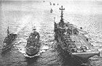 USS Bennington (CVS-20) underway with escorts 1962.jpg
