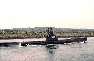 PNS Ghazi - Image: USS Diablo (SS 479) in Cape Cod Canal
