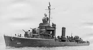 USS <i>Eberle</i> (DD-430) Gleaves-class destroyer of the United States Navy
